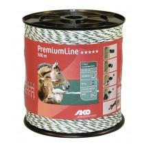 PremiumLine Weidezaunlitze weiß/grün 500 m