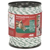 PremiumLine Weidezaunseil weiß/grün Ø 6,5 mm / 200 m