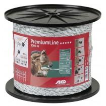 PremiumLine Weidezaunlitze weiß/grün 1000 m