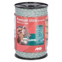Premium Ultra Weidezaunlitze weiß/grün 2,5 mm / 400 m