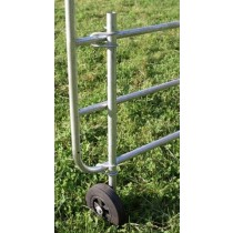 Stützrad für verstellbare Weidetore