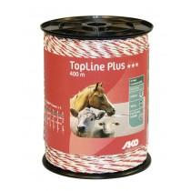 TopLine Plus Weidezaunlitze weiß/rot 400 m
